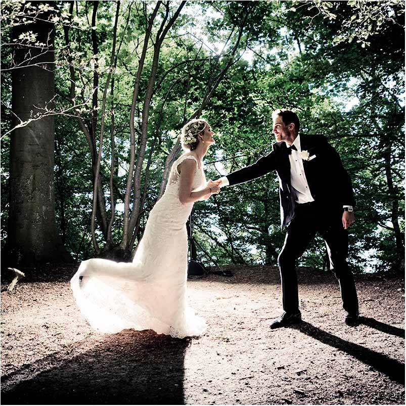 bryllup på Valdemar slot på Fyn